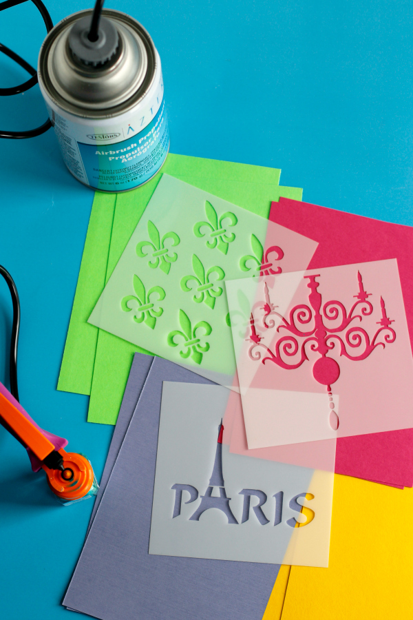 Aztek Airbrush Airbrainz Paris Stencils