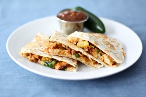 BBQ Chicken Quesadillas for Game Day