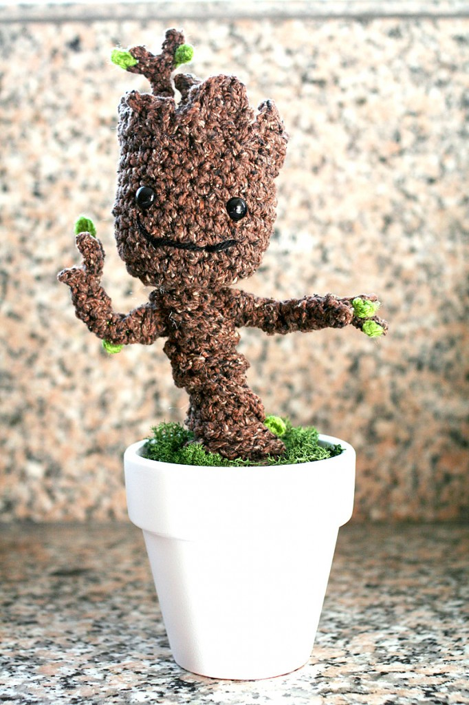 Baby Groot Crochet Pattern from @TwinkieChan.com