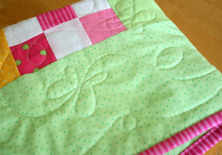 Baby Quilt Butterfly Stitching