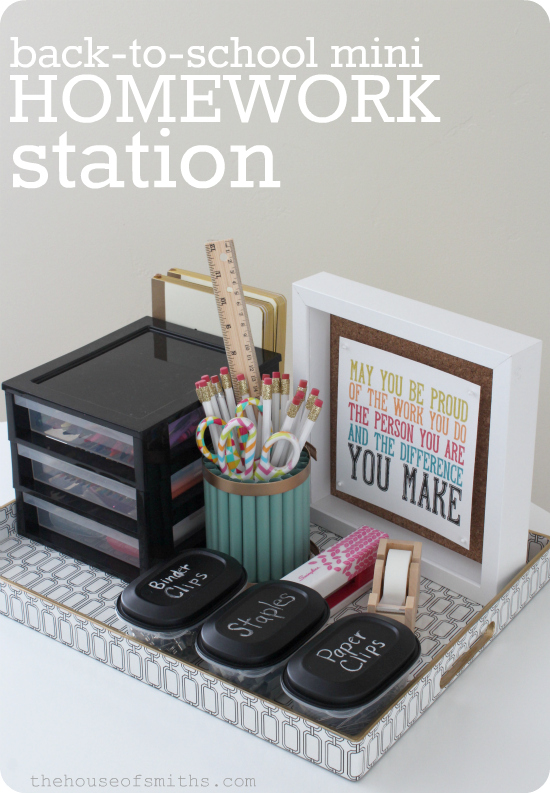 Mini Homework Station