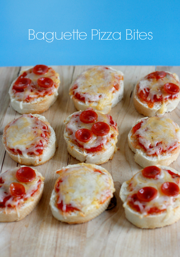 Cheesy Baguette Pizza Bites