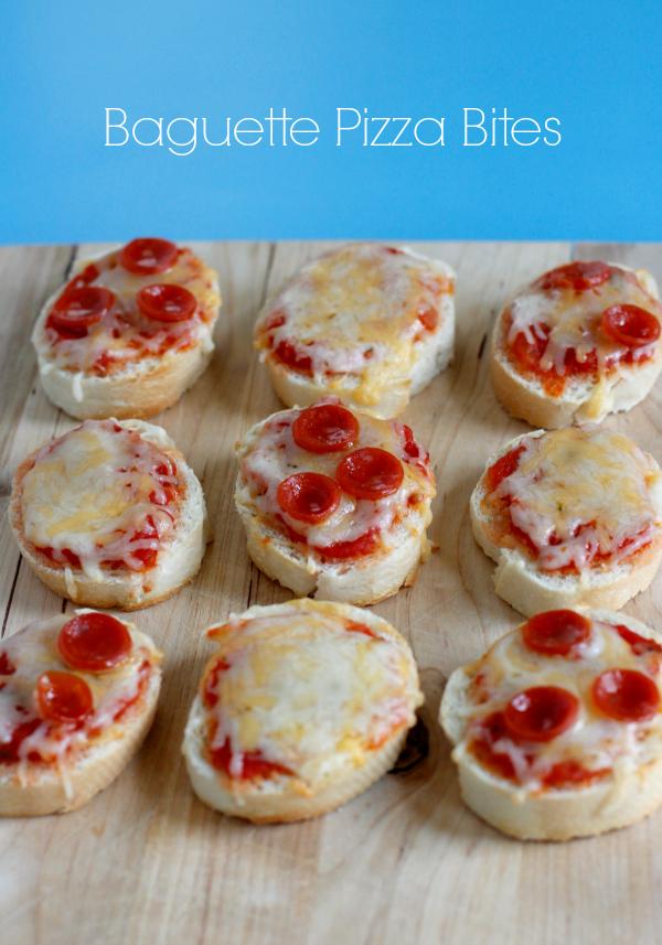 Cheesy Baguette Pizza Bites