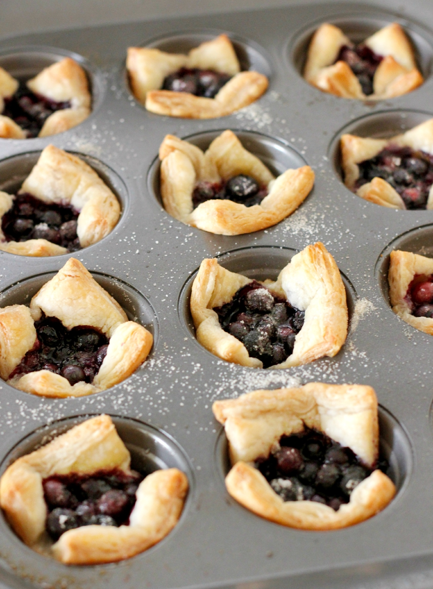 Bake Mini Muffin Tin Blueberry Tarts