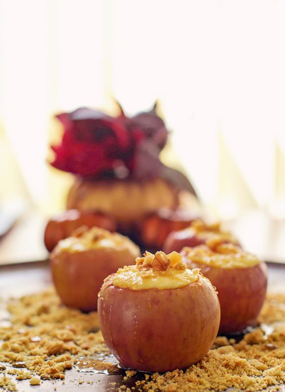 Bake up Cheesecake Stuffed Baked Apples Dessert