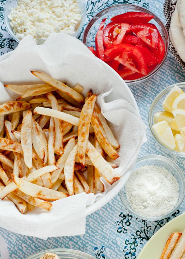 Baked Fries Recipe with Rosemary-Lemon Salt
