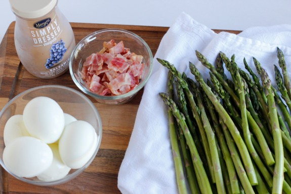Balsamic Dressing Asparagus Bacon and Egg Side Dish Recipe