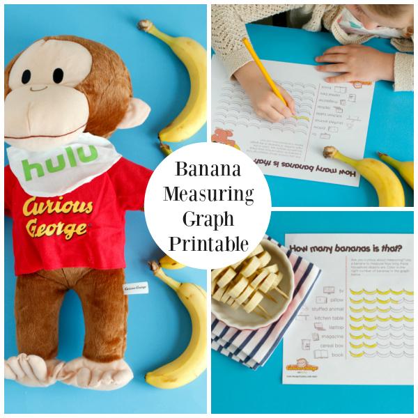Banana Graph Printable for Kids Measuring