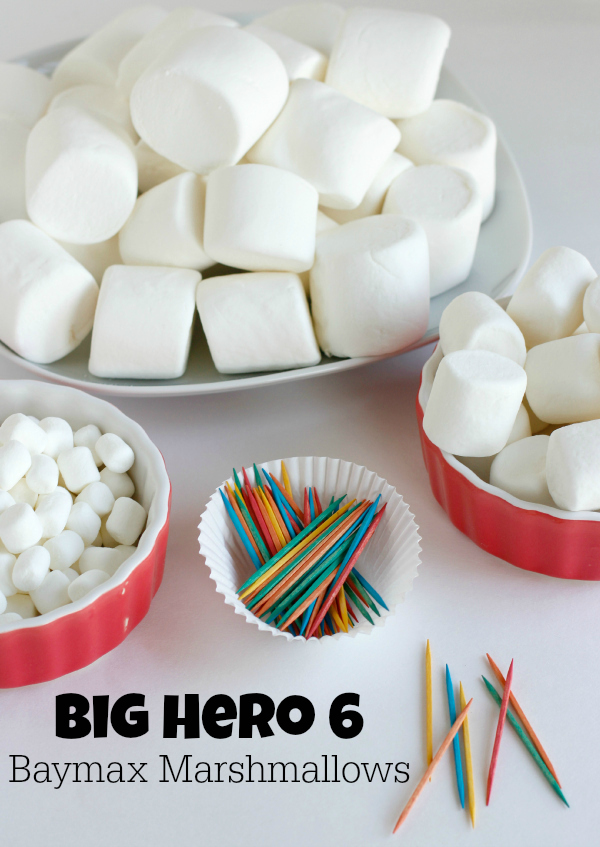 Baymax Marshmallow Craft for a Big Hero 6 Birthday Party