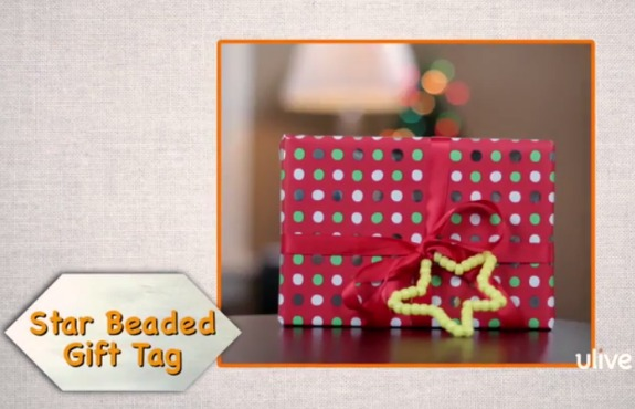 Beaded Star Gift Tag @makeandtakes.com