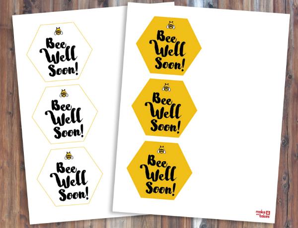 Bee Well Soon Free Printables