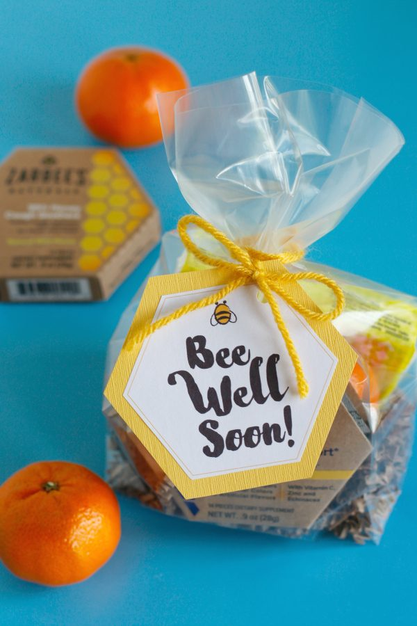 Bee Well Soon Printable Gift Bag Tags