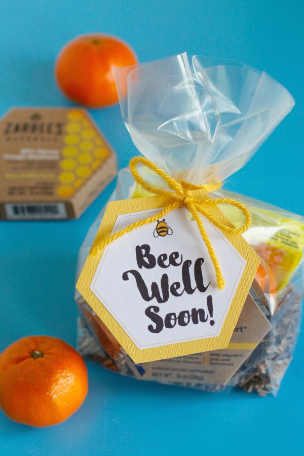 Bee Well Soon Printable Gift Bag Tags