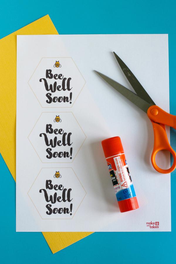 Bee Well Soon Printable Tags