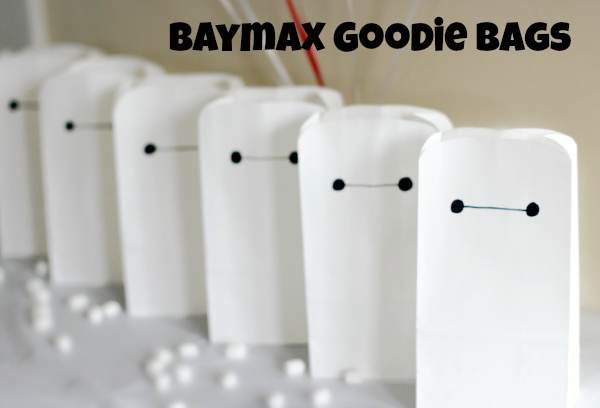 Big Hero 6 Baymax Goodie Bags for a Birthday Party