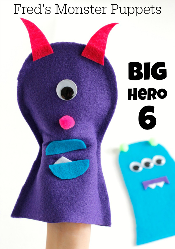 Big Hero 6 Fred Monster Craft Puppets
