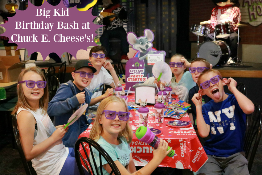 Big Kid Birthday Bash at Chuck E Cheeses Make and Takes
