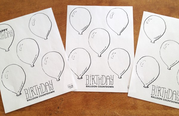 Birthday Balloon Countdown 2