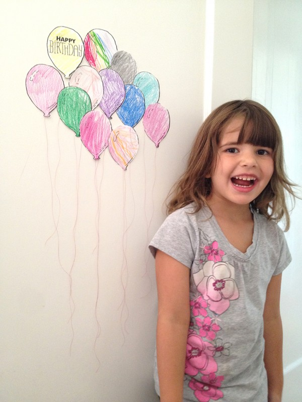 Birthday Balloon Countdown 7
