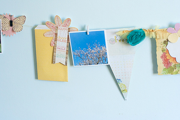 Bits and Pieces Springtime Garland DIY