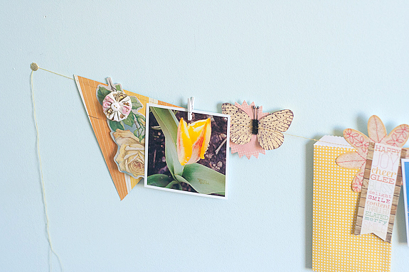Bits and Pieces Springtime garland and photo string by Francine Clouden-12