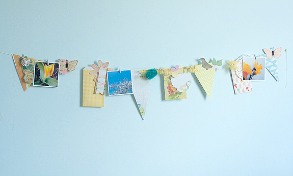 Make a Bits and Pieces Springtime Garland