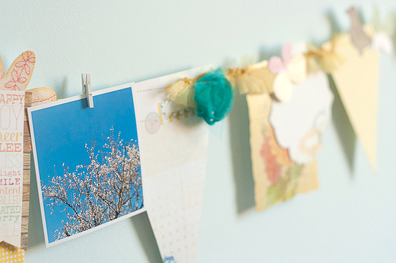 Bits and Pieces Springtime garland and photo string by Francine Clouden-14