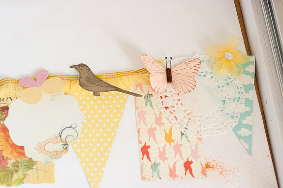 Bits and Pieces Springtime Garland Layout