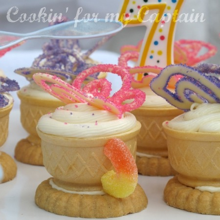 Butterfly Birthday Party Teacup cupcakes