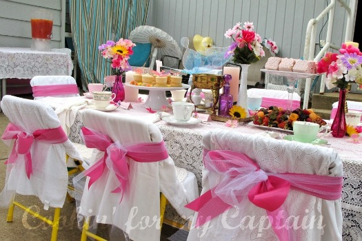 Butterfly Birthday Tea Party Tables