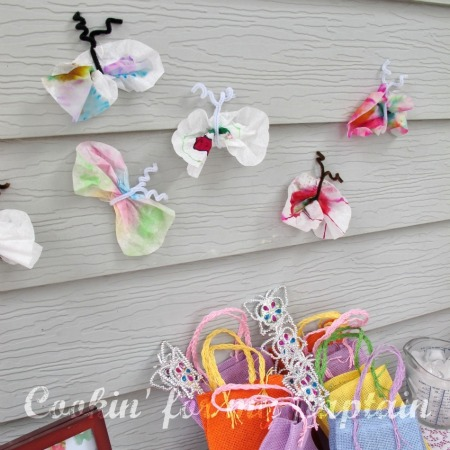 Butterfly birtday party craft