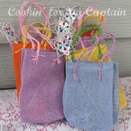 Butterfly birthday treat bags