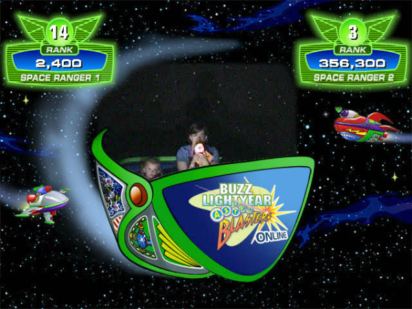 Buzz Lightyear High Scores at Disneyland