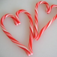 Candy Cane Shaped Hearts