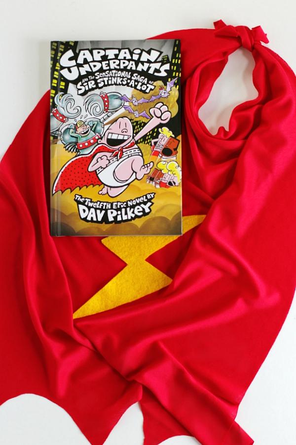 Captain Underpants Book and Superhero Cape DIY