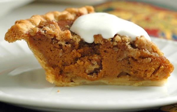 Caramel Pumpkin Pie with Pecan Streusel