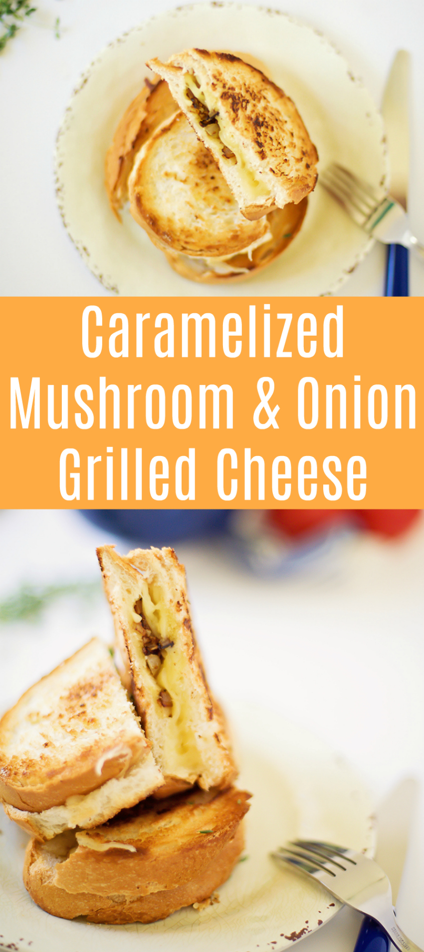 Caramelized Mushroom & Onion Grilled Cheese