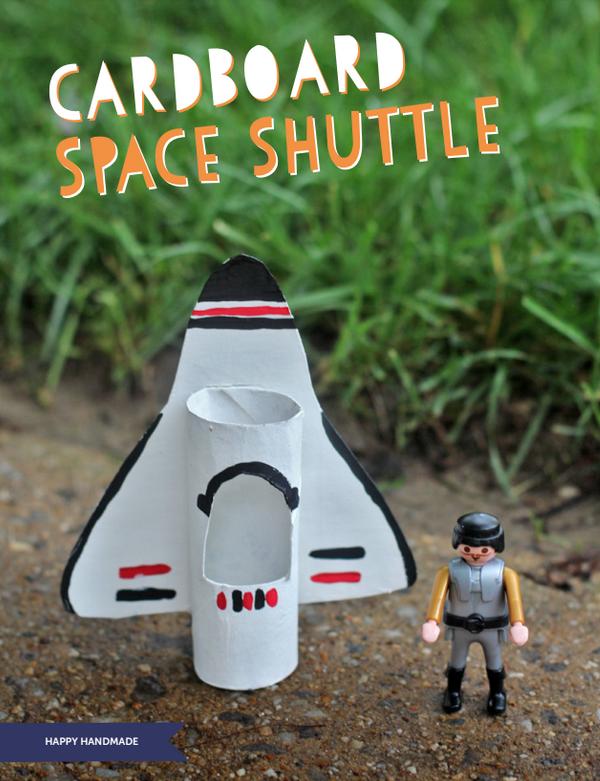 Cardboard Space Shuttle via Happy Handmade