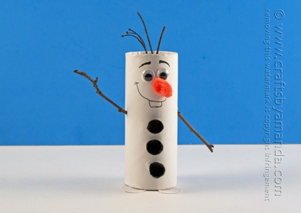 Cardboard Tube Olaf Craft