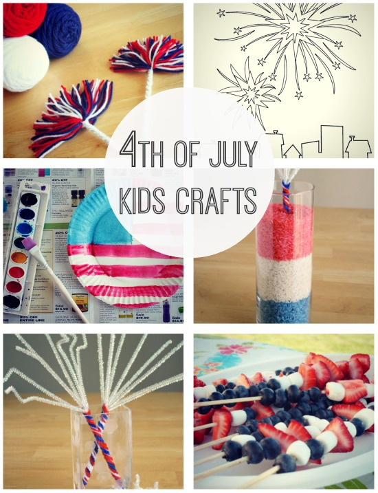Celebrate 4th of July with Kids Crafts @makeandtakes.com