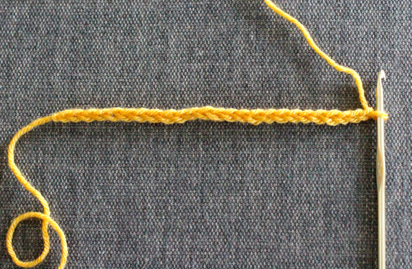 Chain Stitch for an Infinity Scarf Pattern