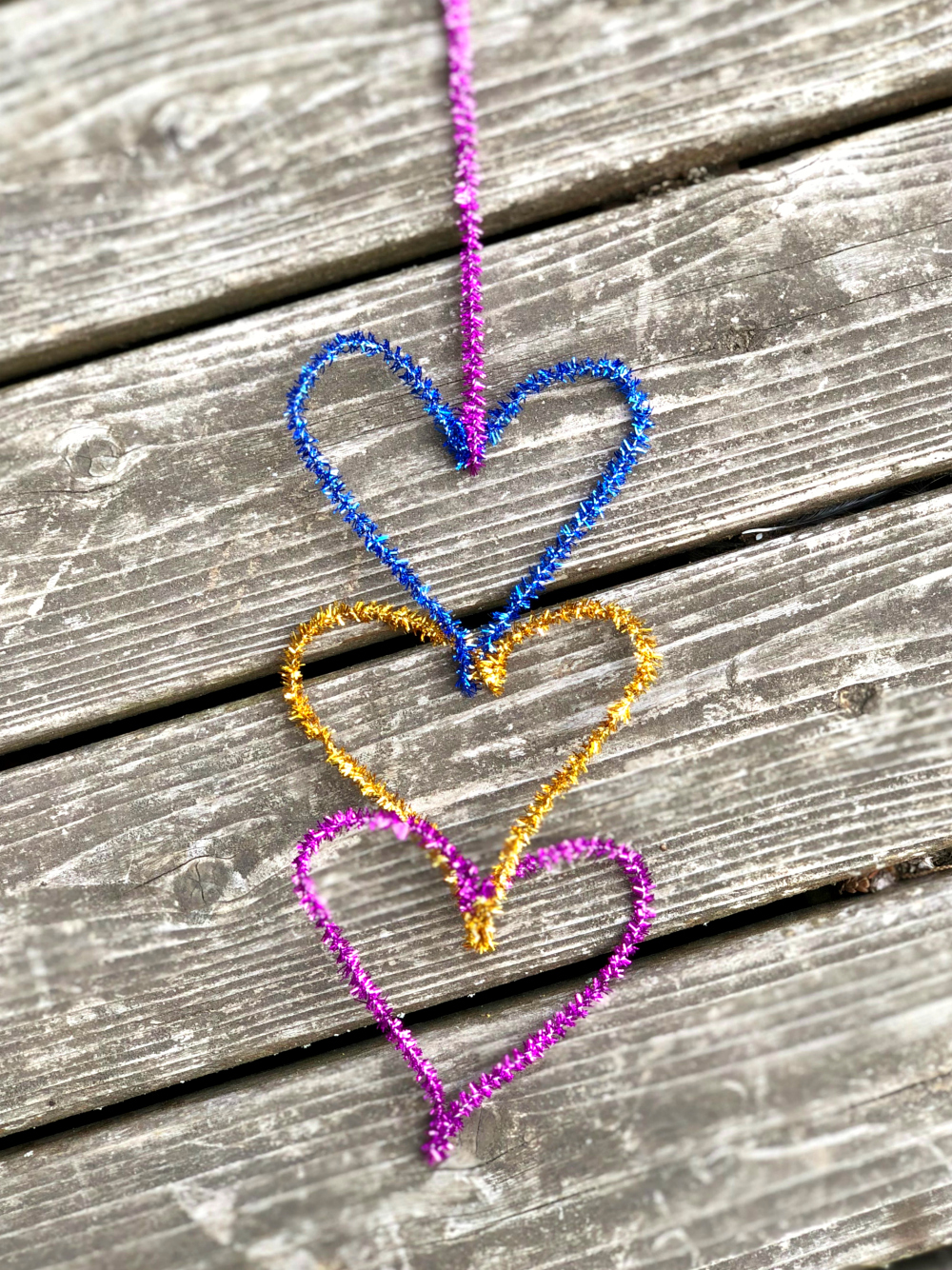Pipe Cleaner Hearts Connection Through Creativity