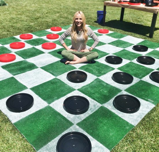 DIY Lawn Checkers