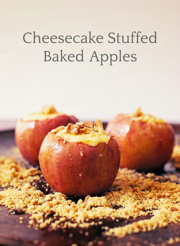 Cheesecake Stuffed Baked Apples