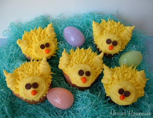 Chick Cupcakes for Easter