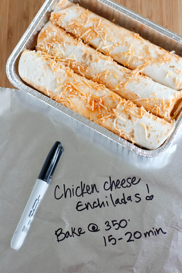 Chicken Enchiladas Freezer Meal