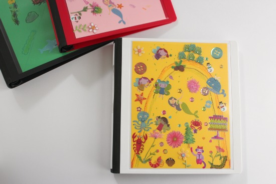 Children's Art Work Binder