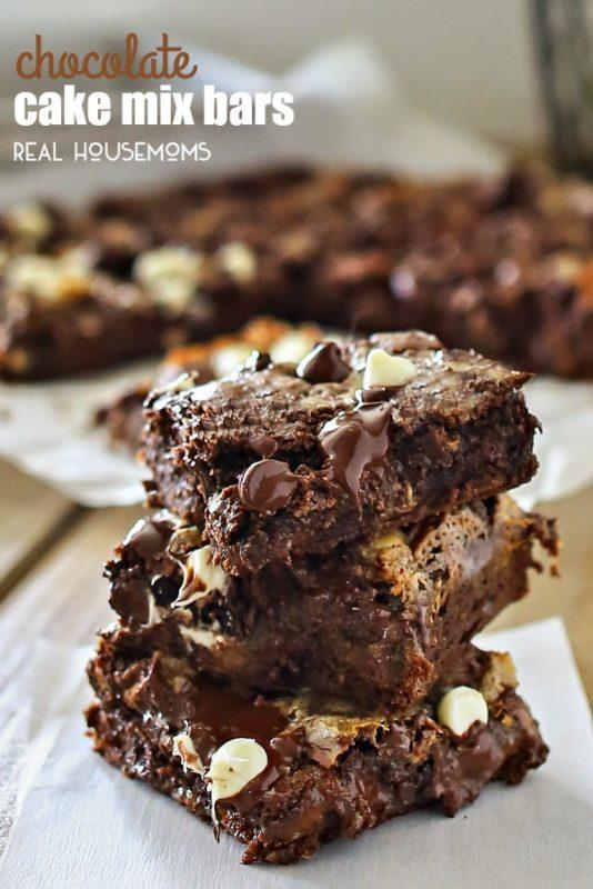 Chocolate Cake Mix Bars