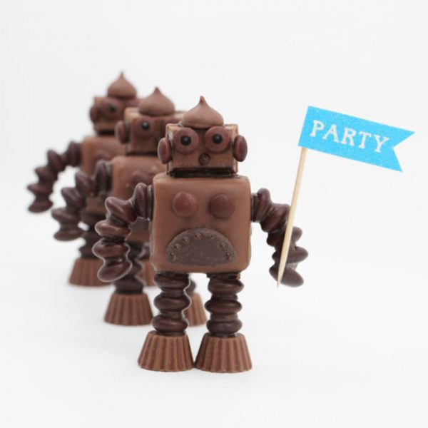 How to Make Chocolate Candy Robots