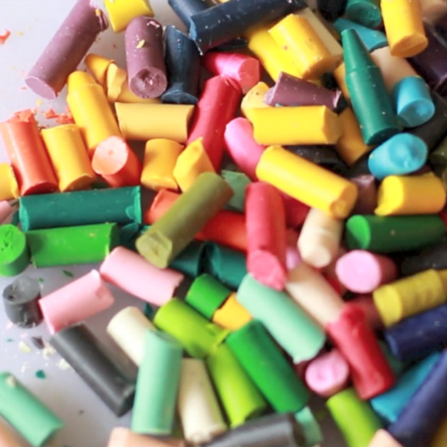 Chopping Crayons for Recycled Chunky Crayons